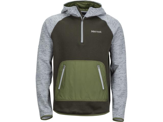 Marmot Gunnison Hoody Herr grey storm heather/rosin green